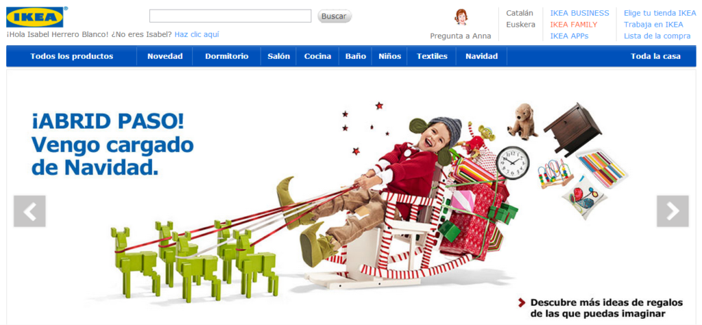 Portada web Ikea